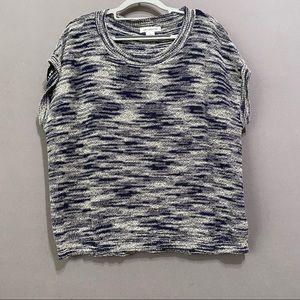 Liz Claiborne navy/Gray sleeveless sweater size L